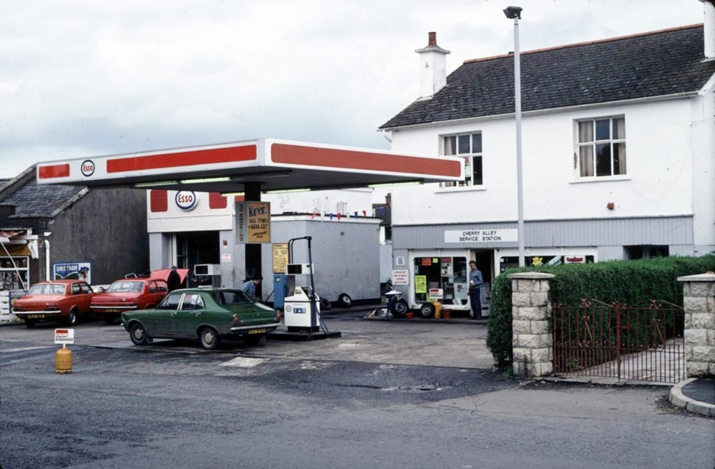 A view of Cherryvalley Filling Station in August 1980